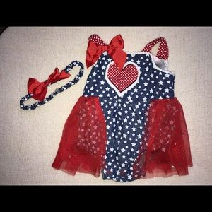 Other - Baby Girl American Flag Outfit